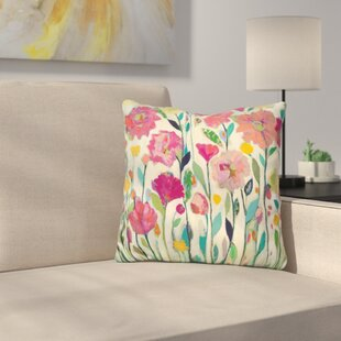 She Lived in Full Bloom Throw Pillow