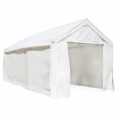 Heavy Duty Outdoor 10 Ft. W x 20 Ft. D Canopy ALEKO Color: White