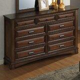 North Adams 9 Drawer Dresser by Charlton Home®