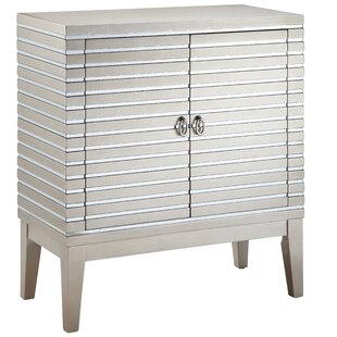 Gervais Mirrored Strips 2 Door Accent Cabinet By Stein World