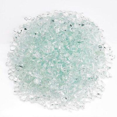 """American Fireglass Fire Pit Glass  Size: 0.25"""", Color: Clear"""