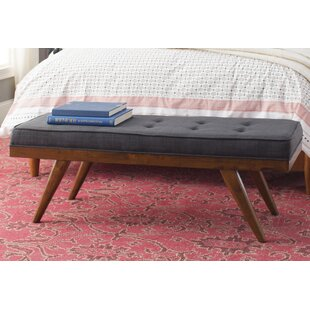 Compare prices Harbin Upholstered Bench By George Oliver