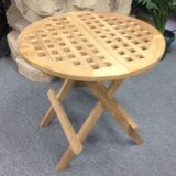 Folding  Solid Wood Bistro Table