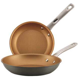 Hard Anodized Aluminum Non-Stick Skillet Set (Set of 2)