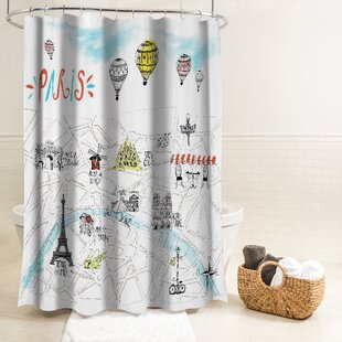 Salma Paris Fabric Single Shower Curtain