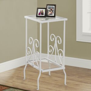 White Metal End Table by Monarch Specialties..