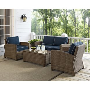 Dardel 4 Piece Sofa Set with Cushions