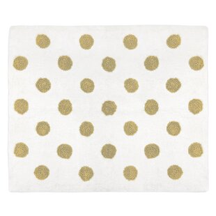 Purchase Amelia Hand-Tufted Cotton Metallic Gold/White Indoor Area Rug By Sweet Jojo Designs