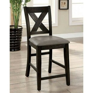 Ilya Counter Height Upholstered Dining Chair (Set of 2) Alcott Hill