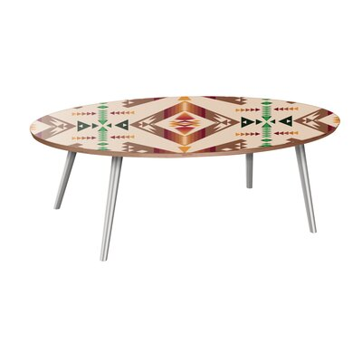 Bloomsbury Market Rindel Coffee Table  Table Base Color: Chrome, Table Top Color: Walnut