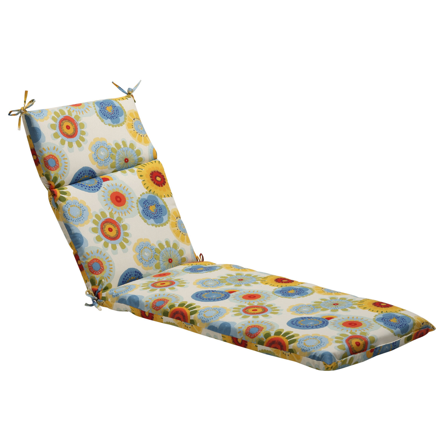 Pillow Perfect Floral Indoor Outdoor Chaise Lounge Cushion Reviews Wayfair