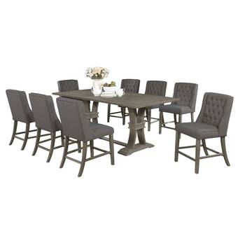 Brayden Studio Brutus 9 Piece Extendable Dining Set Wayfair