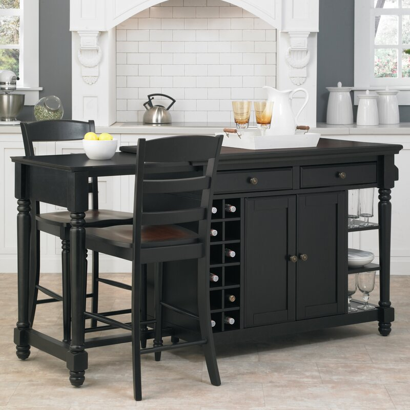 Darby Home Co Cleanhill 3 Piece Kitchen Island Set & Reviews | Wayfair
