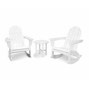 Vineyard 3 Piece Plastic Rocking Adirondack Chair Set by POLYWOOD?