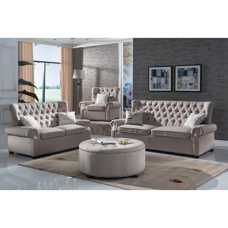Three Posts Yately 2 Piece Living Room Set & Reviews   Wayfair