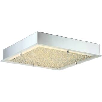 Orren Ellis Coletta 1 Light 15 75 Unique Statement Square Flush Mount Wayfair