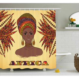 Kowloon African Ethnic Woman Shower Curtain