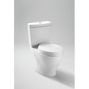 Online Reviews Aquia Dual-Flush Elongated Two-Piece Toilet (Seat Not Included) ByToto