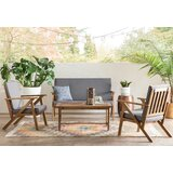 Judson 4 Piece Teak Sofa Seating Group with Cushions