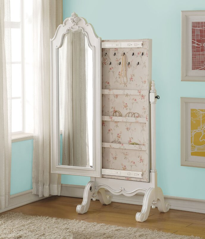 Harriet Bee Schechter Cheval Free Standing Jewelry Armoire with