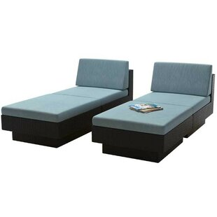 Jetton Chaise Lounge Set with Cushions by Brayden Studio