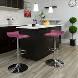 Oswaldo Swivel Adjustable Height Bar Stool by Ivy Bronx