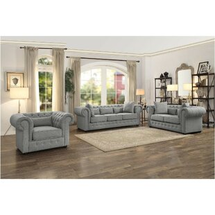 Online Reviews Cordova Button Tufted Upholstered Configurable Living Room Set by Rosdorf Park Reviews (2019) & Buyer's Guide
