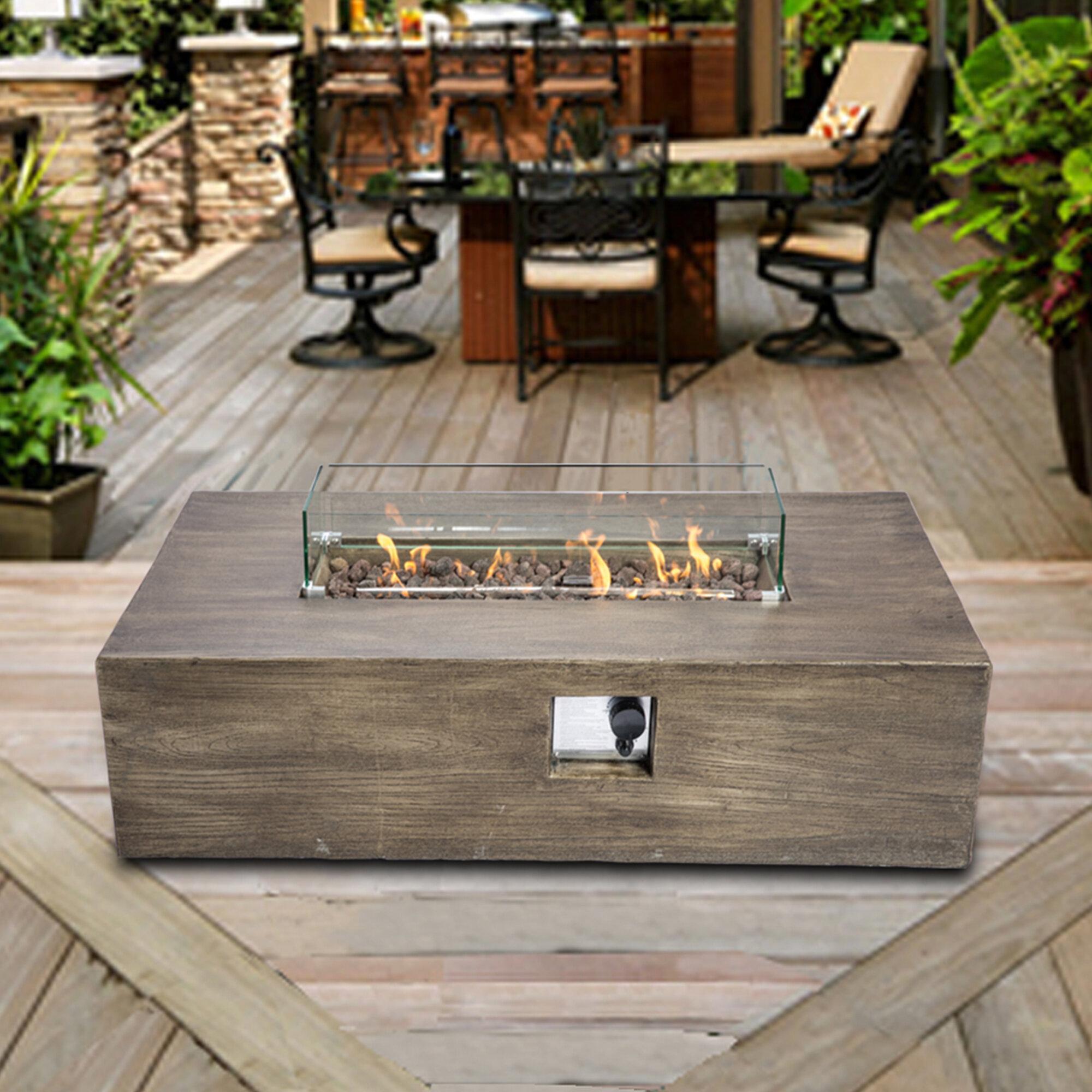 Amett Concrete Propane Fire Pit Table