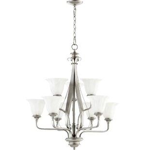 Quorum Randolph 9-Light Shaded Chandelier