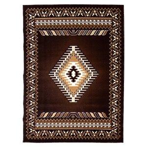 Kingdom Chocolate Southwest Native American Area Rug