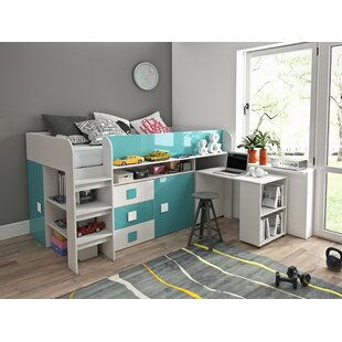 Ezell European Single Mid Sleeper Bed With Furniture Set By Isabelle & Max