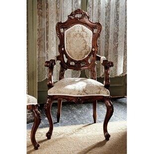 Toulon French Rococo Fabric Arm Chair by Design Toscano