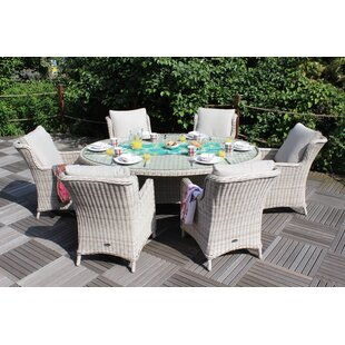 Hermina 6 Seater Dining Set With Cushions By Sol 72 Outdoor
