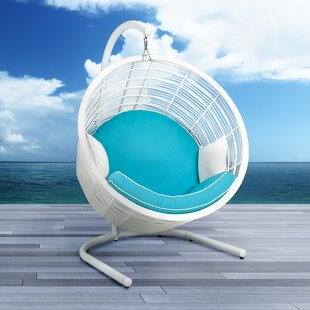 Uptown Club Harley Wicker Swing Chair with Stand
