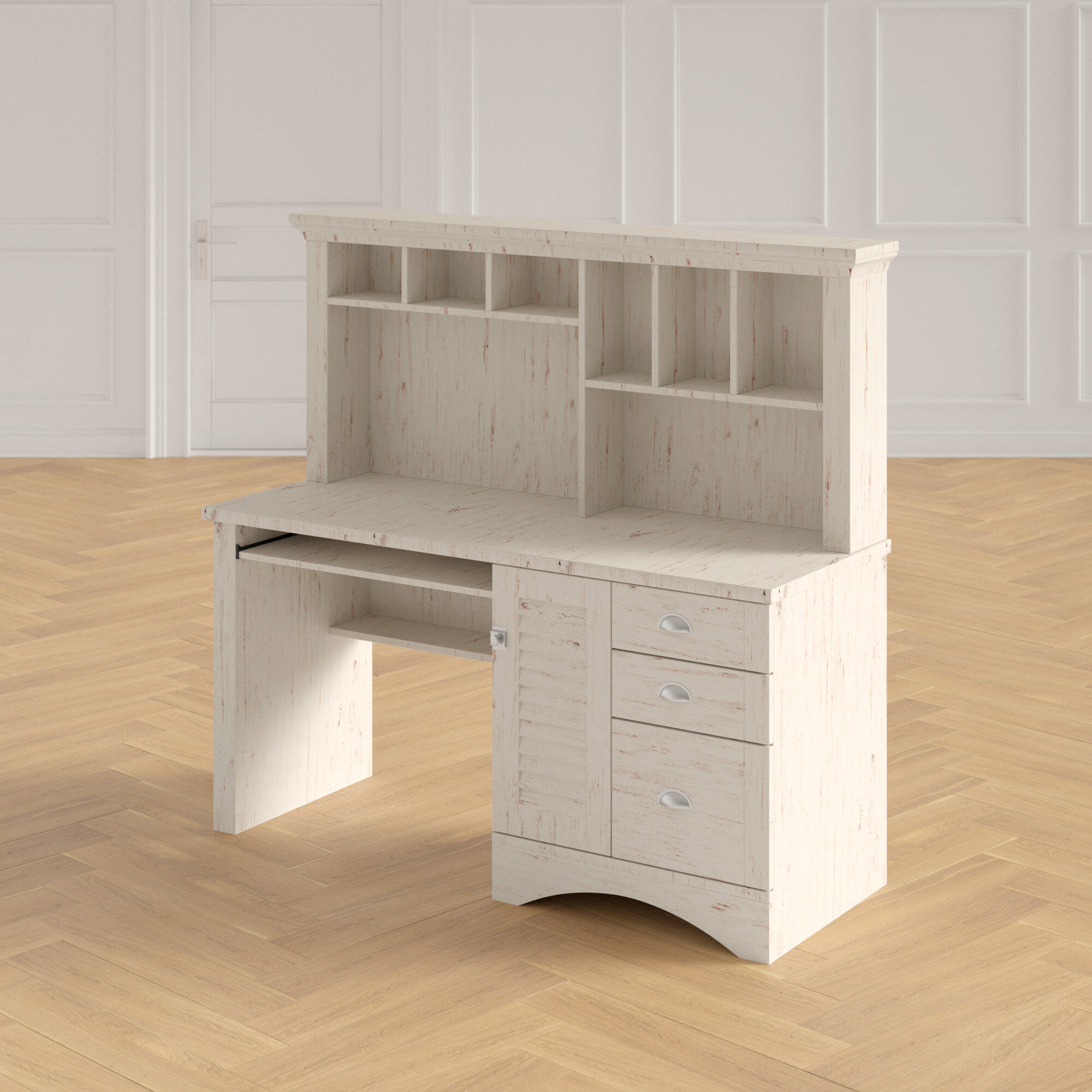 - Townsell Computer Desk With Hutch & Reviews Joss & Main