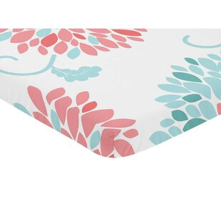 Compare prices Emma Floral Print Fitted Mini Crib Sheet By Sweet Jojo Designs