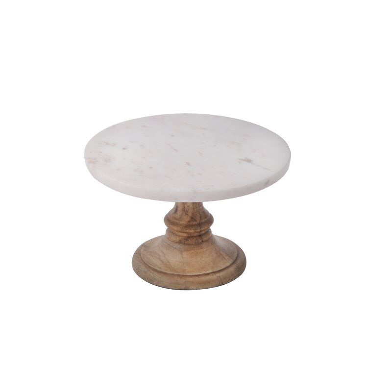 Boadicea Marble Decorative Plate on Mango Wood Stand