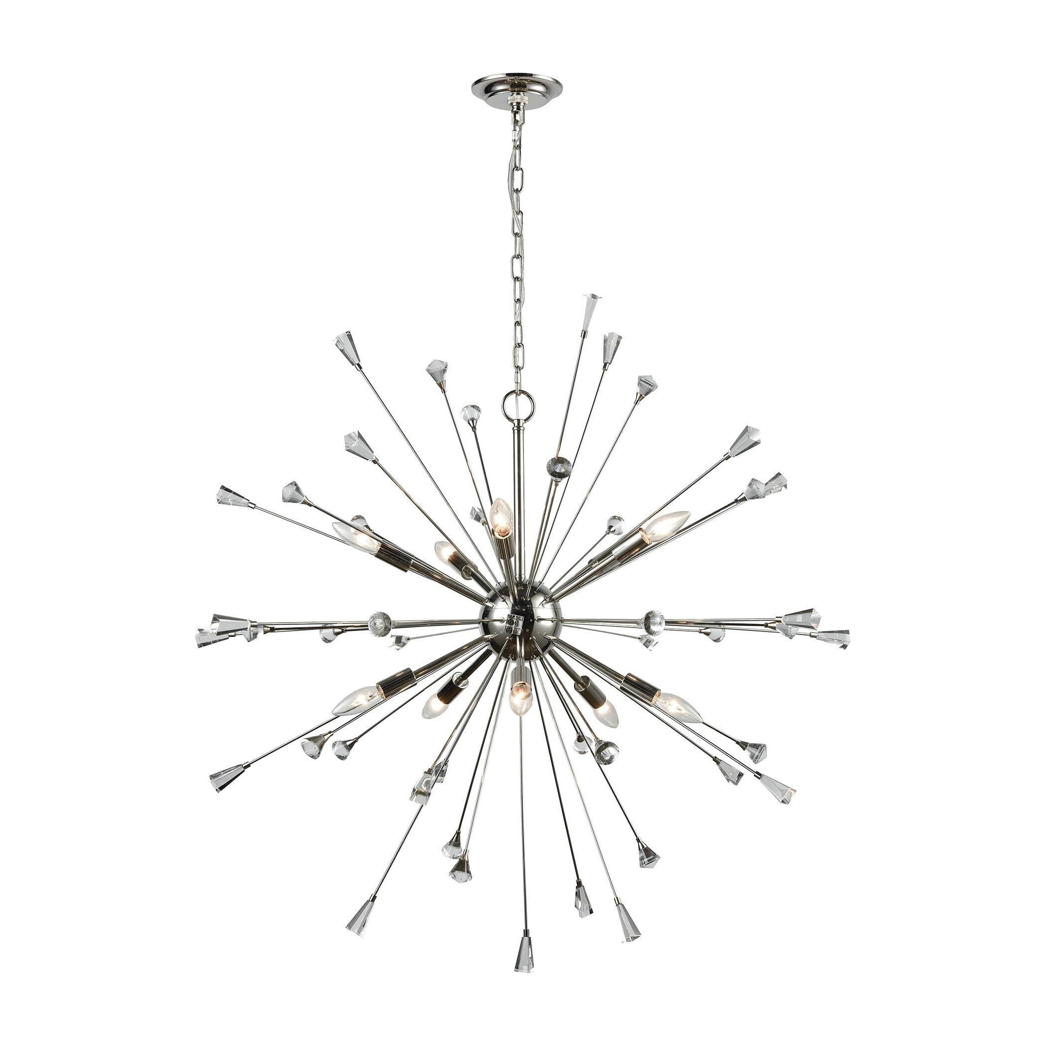 Kasey 10 Light Sputnik Chandelier & Reviews