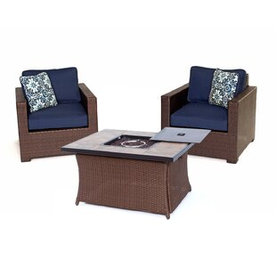 Brayden Studio Abraham 3 Piece Sectional Set with Cushions