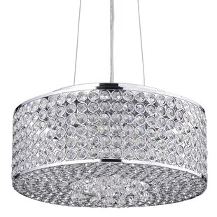House of Hampton Clarabelle 4-Light Crystal Chandelier
