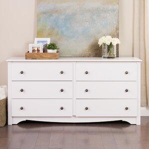 Wonderful Sybil 6 Drawer Double Dresser