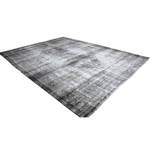 Price Check Kerri Vintage Persian Hand-Knotted Wool Gray/White Area Rug ByBungalow Rose