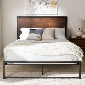 Nadolski Rustic Industrial Metal Platform Bed by Union Rustic
