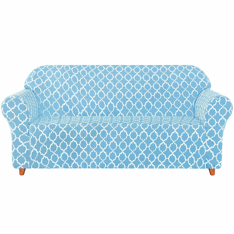 Canora Grey Cloud Printed Soft Stretchy Box Cushion Loveseat Slipcover Reviews Wayfair Co Uk