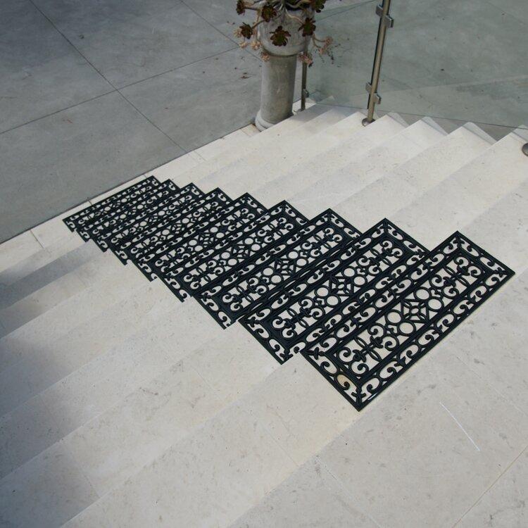 6 Piece Regal Rubber Stair Treads Step Mat Set
