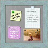 Magnetic Wall Mounted Sky Blue Rustic Bulletin Board