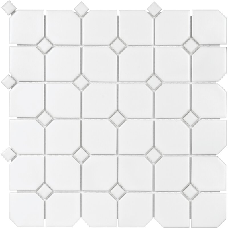 Parvatile Sail 2 X 2 Ceramic Porcelain Mosaic Tile In Matte White Reviews Wayfair