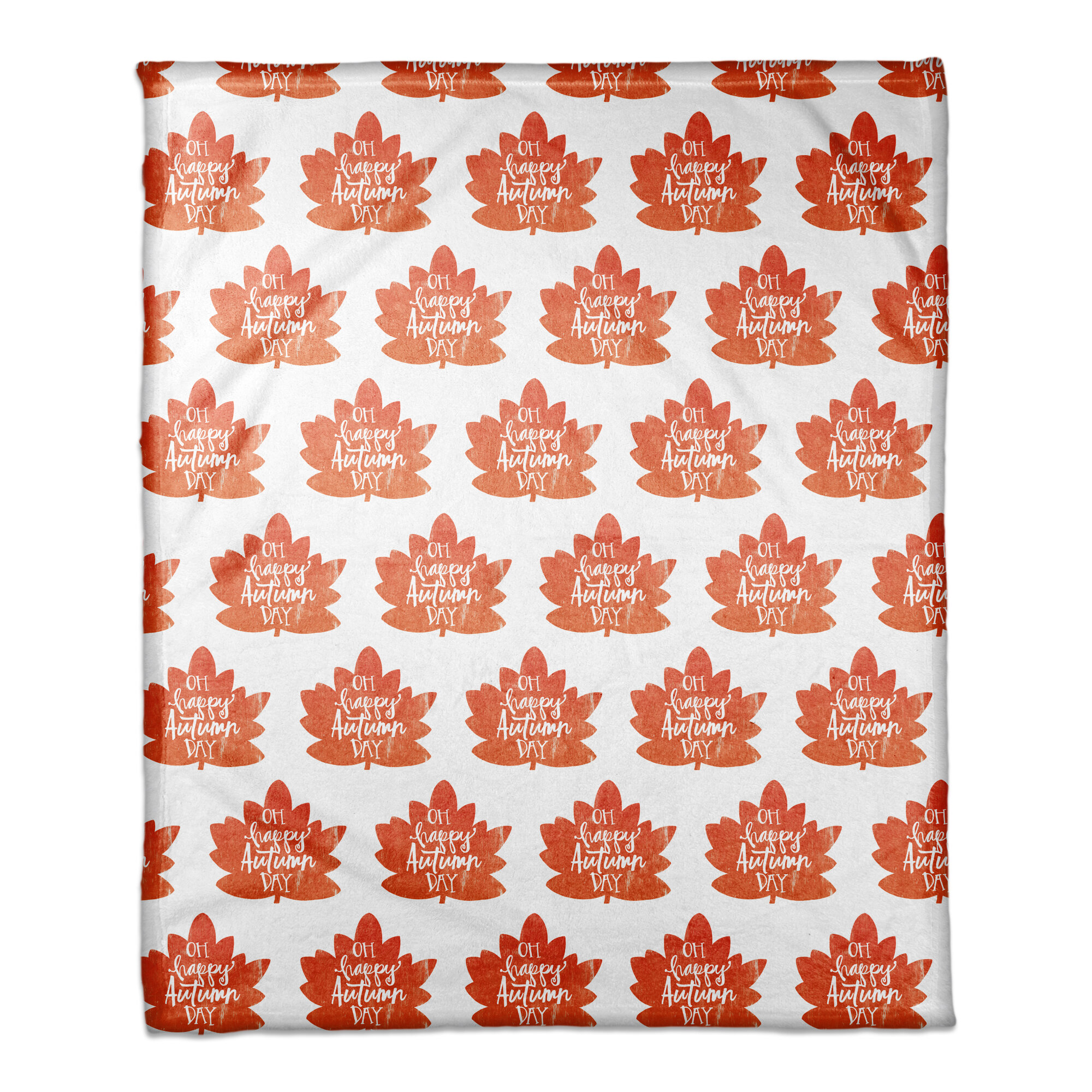 - The Holiday Aisle Fall Leaves Pattern Coral Fleece Throw Wayfair