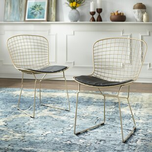Merrimac Wire Upholstered Side Chair (Set of 2) Wrought Studio