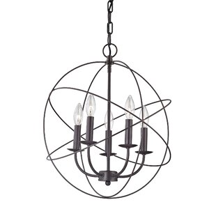 Charlton Home Bordelon 5-Light Globe Chandelier